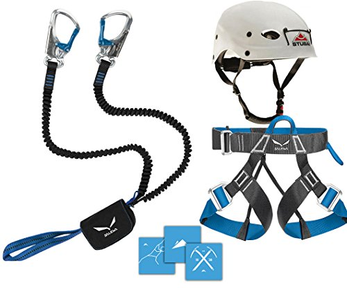 Kit d'escalade Salewa Premium Attac 2014 avec sangle Via Ferrata Evo et casque Stubai Fuse Light