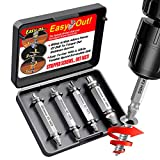 Damaged Screw Remover and Extractor Set by SKmoon,Easily Remove Stripped or Damaged Screws. Made from H.S.S. 4341#, The Hardness is 62-63hrc,Set of 4 Stripped Screw Removers
