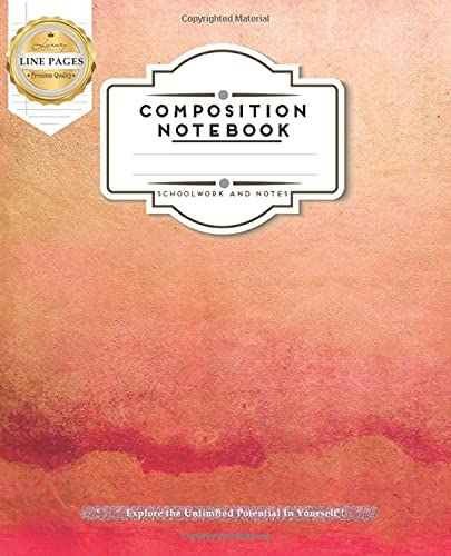 Composition Notebook: Wide Ruled Line Paper Notebook Journal | Wide Blank Lined Exercise Workbook Gifts for Students Teens Kids Boys Girls in Home ... | Shiny Lava Watercolor Watercolor Print
