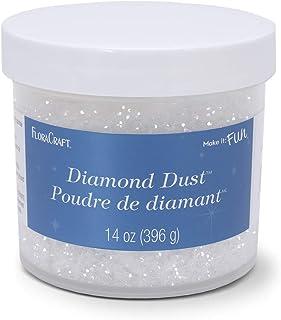 FLORACRAFT B008LTVCCM Diamond Dust Glitter Plastic Jar, 14