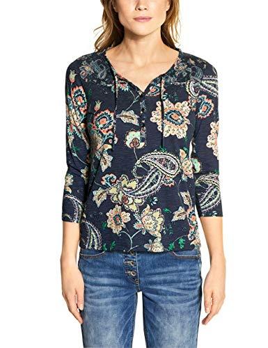 Cecil Damen 314723 TOS Paisley Tunic T-Shirt, deep Blue, Medium