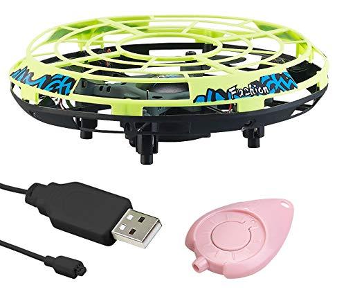 Simulus UFO Spielzeug mit Sensor: Selbstfliegendes Quadrocopter-UFO mit Infrarot-Sensoren und LEDs (UFO Drohne)