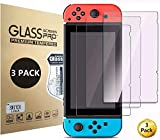 Screen Protector Tempered Glass for Nintendo Switch 3 Pack, Aishtec [9H Hardness] Transparent HD Clear Anti-Scratch Screen Protector – Pack of 3