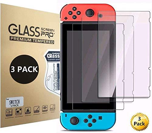 Aishtec3 Unidades Protector de Pantalla para Nintendo Switch