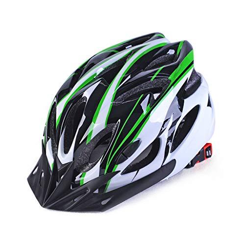 wkwk Casco Bicicleta,Casco de montaña,Casco de Seguridad,Casco Deportivo de Bicicleta de montaña,Casco de Montar para Adultos,Ligero,Transpirable y cómodo