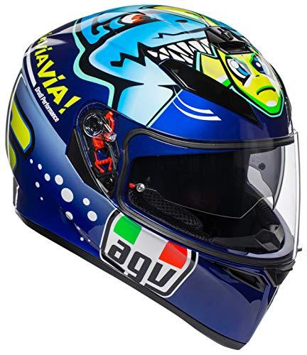 AGV Unisex-Adult Full Face K-3 SV Misano 2015 Shark Motorcycle Helmet (Multi, Medium/Small)