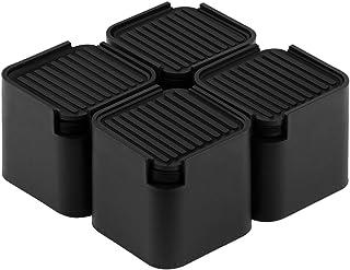 Uping 洗濯機用防振かさ上げ台 高さ調整・防音・防振ゴムマット 洗濯機用置き台 かさ上げ用 かさあげ君 イージースタンド (一般用/高さ91mm) 4個入り ブラック