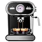 YZYZYZ Cafetera Italiana Semiautomática Visualización del Hogar Bomba De Control De Temperatura Completa Cafetera Máquina 220V Espresso, Negro, A