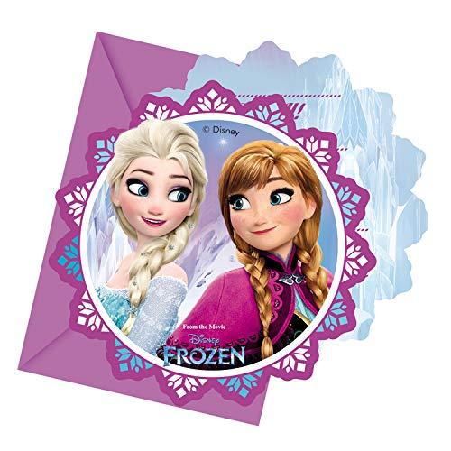 Procos Disney Frozen 86919 – Einladungskarten mit Umschlag