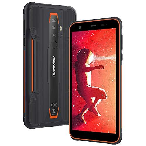 "Rugged Smartphone Blackview BV6300, Android 10 Outdoor Smartphone Dual 4G IP68 Cellulari Resistenti, 13MP Quad Rear Camera HDR 5.7"" MTk A25 Processore Octa-core 3 32GB, NFC OTG"