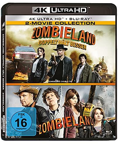 Zombieland 1 & 2 - 4-Disc-Set (2 UHD, 2 BD, Limited Edition) exklusiv bei Amazon.de [Blu-ray]