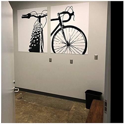HSFFBHFBH Leinwand Kunstdrucke Fahrrad Motivation Kunst Radfahren Leinwand Malerei Wandbilder Fahrrad Und Poster Geschenk Hause Kinderzimmer Dekor 60x80 cm Kein Rahmen