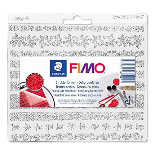 STAEDTLER FIMO stampo in rilievo con motivo Merletto, ideale per plastilina e pasta da modellare FIMO, per oggetti piatti e curvi, 8744 17