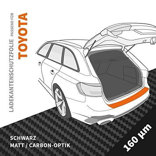 Ladekantenschutz Folie | Ladekantenschutzfolie › passgenau für: Toyota GT86 ab BJ 2012 ✓ Schwarz-Matt/Carbon-Optik ✓ Stärke 160 µm (0,16mm)