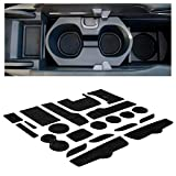 CupHolderHero for Honda Civic Accessories 2016-2021 Premium Custom Interior Non-Slip Anti Dust Cup Holder Inserts, Center Console Liner Mats, Door Pocket Liners 21-pc Set (Sedan) (Solid Black)