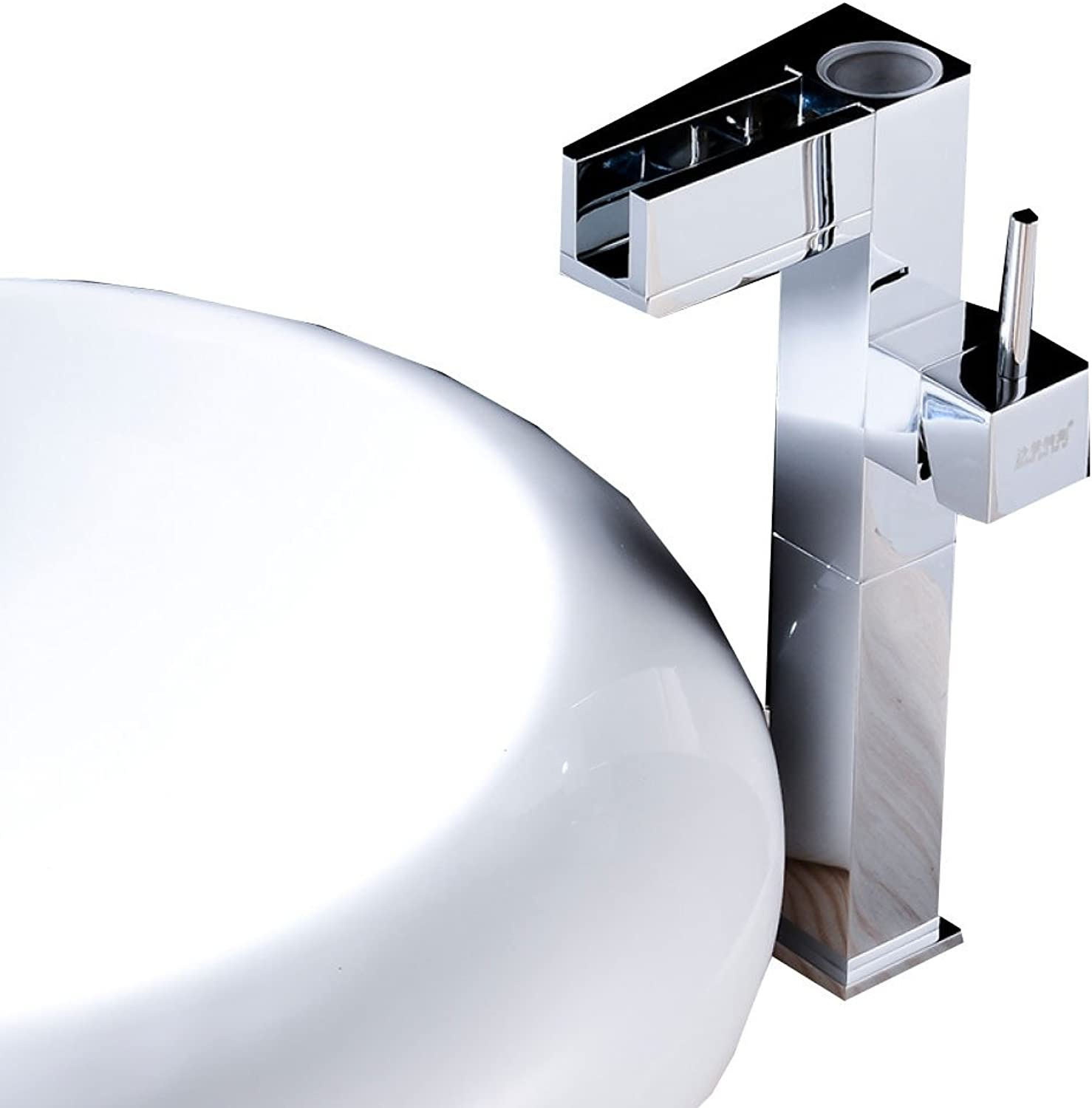 ANHPI-Tap LED Temperature Control Faucet Washbasin Washbasin Above Counter Basin Copper Hot And Cold Waterfall Basin Faucet,B
