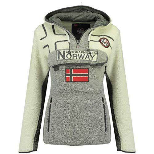 Geographical Norway, Pile RIAKOLO, da donna grigio chiaro Large