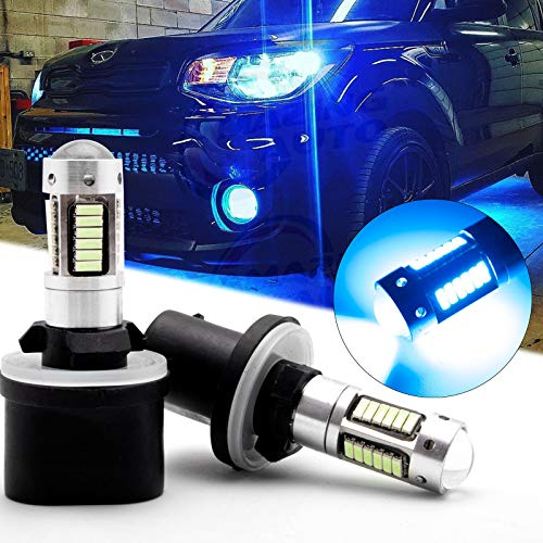 Xotic Tech Pair 30-SMD 8000K Ice Blue 880 893 889 LED Projector Lens Fog Light Bulbs Compatible with Hyundai or Nissan or Kia or GMC