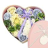 pétalos de rosas con aroma floral, ideal para regalar a mujeres, adolescentes, niñas, mamá, cumpleaños, aceites esenciales, pétalos en forma de jabón para invitados