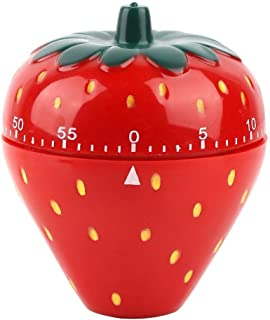 Maxmartt Strawberry Shaped 60 Minutes Kitchen Timer Mechanical Time Reminder