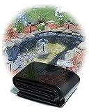 Yibcn Große Fischteichfolie 10x10m 10x20m 12x20m, Teichfolien Reißfestigkeit für Gartenfischteiche, Bäche, Flüsse 0,2 mm dick