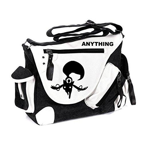 Siawasey Handtasche, Umhängetasche, Schultertasche, Schultasche mit japanischem Anime-Motiv, Cosplay Schwarz Puella Magi Madoka Magica Large