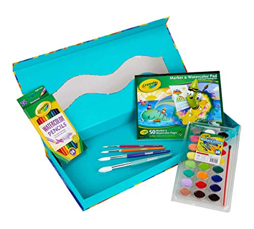 Crayola All-in-One Watercolor Set, Travel Paint Set, Gift for Kids