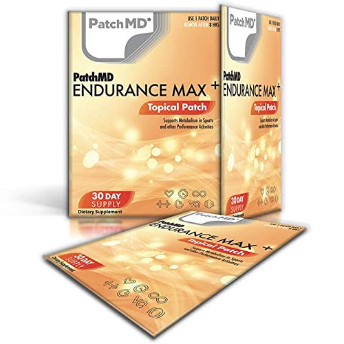 PatchMD Endurance Max Plus - 30 Daily Topical Patches. 100% Natural & Vegan. Allergy & Filler Free. High Absorption More bioavailable. Suitable for Sensitive stomachs & bariatric.