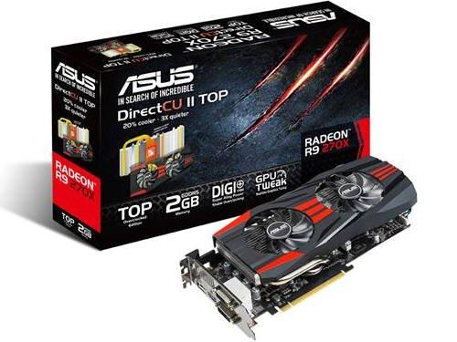 ASUS R9270X-DC2T-2GD5 Radeon R9 270X 2GB GDDR5 - Grafikkarten (Radeon R9 270X, 2 GB, GDDR5, 256 Bit, 2560 x 1600 Pixel, PCI Express 3.0)