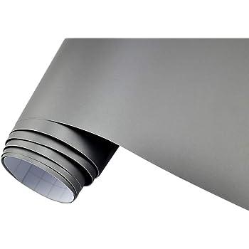 26 31 M 3m Autofolie Scotchprint Wrap Film 1080 Matte Grey Aluminium Gegossene Matt Profi Folie 152cm Breit Blasenfrei Mit Luftkanäle Küche Haushalt