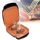 YGB Bistecca Multifunzionale per Barbecue Hamburger Grill Barbecue Carne Tostatrice Friggitrice elettrica per Uova PanBBQ