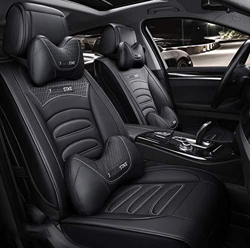 Autostoelhoezen voor de auto, complete set Car Seat Covers, complete Circondate Sede Regina, stoelen van winterleer, PU-leer en ademende 3D-stof, geschikt voor de meeste Aut