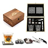 Whisky Stones, Whisky Glass Gift Set, Large Whiskey...