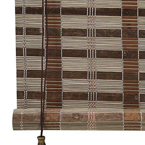 CHAXIA rolgordijn bamboe schaduw brede bamboe cover licht zonnebrandcrème gordijn woonkamer balkon achtergrond muur duurzaam, 2 kleuren, multi-size, aanpasbaar