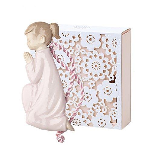 Hervit Art. 27050 Fille Prière en Porcelaine Rose 10 cm