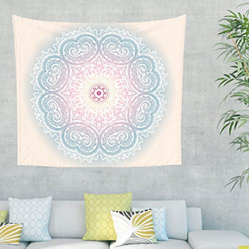 O5KFD & 8 lichtgeel mandala-motief wandtapijt creatief design veelzijdigheid strandlaken - voor geschenken van vader