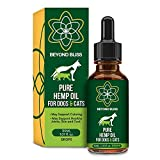 Beyond Bliss Hemp Oil for Dogs & Cats - 550 milligrams daily- Joint Pain - Separation Anxiety - Chronic Pain Relief - Organic & Natural - Anti-Inflammatory - Grown & Made in USA - Omega 3, 6, 9