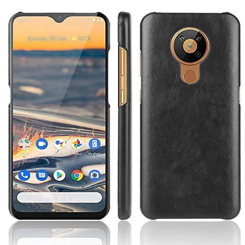 MKOKO For el Caso de Nokia a Prueba de Golpes 5.3 Litchi Textura PC + PU Anti-arañazos (Color : Black)