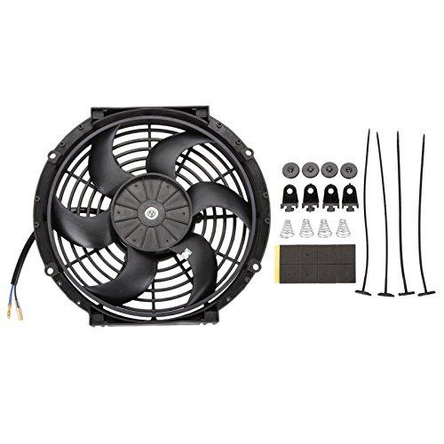 Radiador de refrigeración del motor ventilador de Madlife Garaje hoja cuerva de 10pulgadas 12V 80W universal, eléctrico.