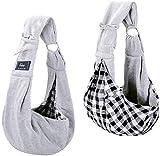 CUBY Sac à dos pour animaux domestiques, chiots, petits chiens, chats - Bandoulière réglable (gris clair)