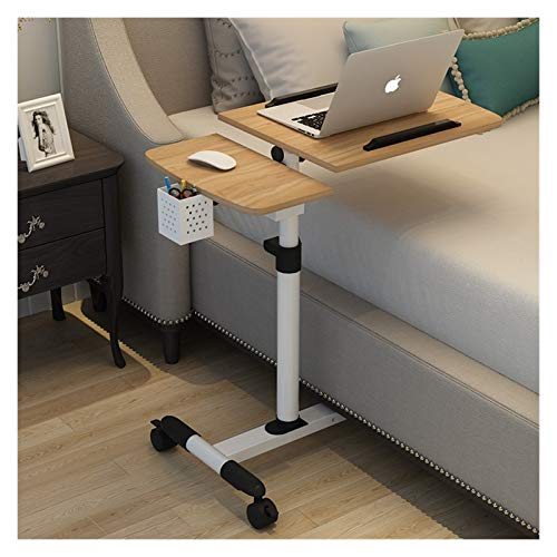 Youpin Mesa de ordenador plegable para cama, portátil, giratoria, portátil, se puede levantar de pie, muebles de hogar (color: madera)