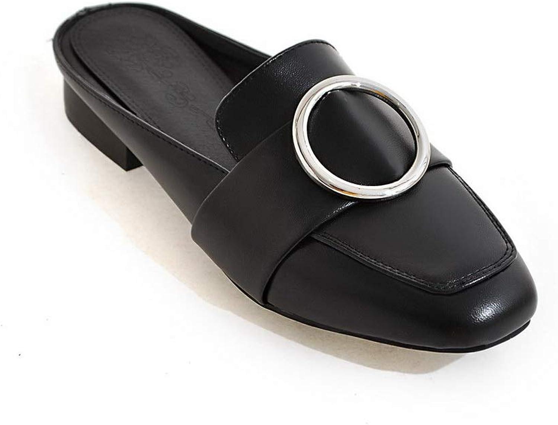 BalaMasa Womens Charms Solid Casual Urethane Slides Sandals ASL05834