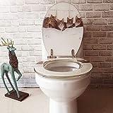 Resina Sedile del Water OUV Rotondo Universale Pesce Marino Copertura del Sedile della Toilette in Acciaio Inox a Rilascio Lento Cerniera a sgancio rapido WC Sitz Sedile del gabinetto