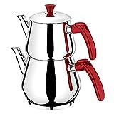 Türkischer Teekocher |Tee- und Wasserkocher Demlik Caydanlik Semaver Samovar PIRAMIT MINI