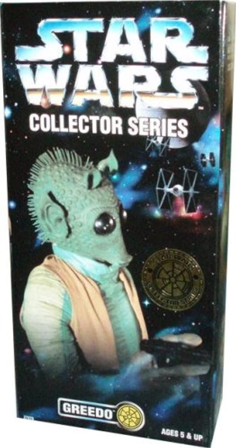 Hasbro Kenner Year 1997 Star Wars Collector Series 12 Inch Tall Fully Poseable Figure With Authentically Styled Outfit And Accessories  Greedo With Blaster Pistol