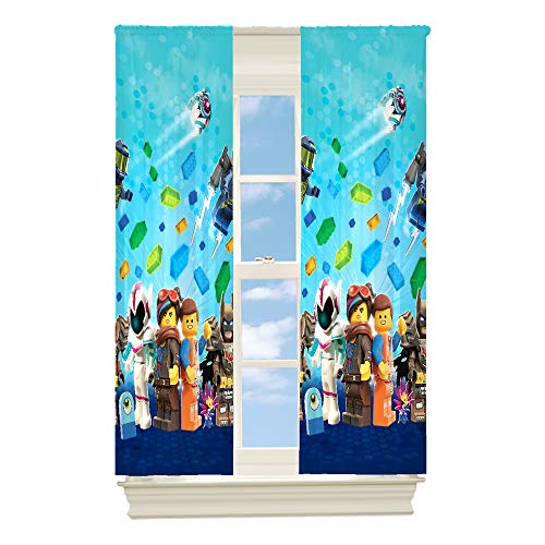 Lego Curtains Always Building Together Room Darkeners Drapes Kids Window Curtains - 2 Panels 42 X 63 Inch