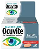 Ocuvite Eye Vitamin & Mineral Supplement, Contains Zinc, Vitamins A, C, E, & Lutein, 60 Tablets