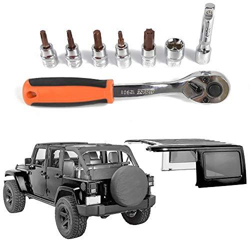 Jecar 6 Hardtop Quick Removal Bolts Thumb Screws for Jeep Wrangler 1995-2019 /& Unlimited YJ JK JKU JL JLU Sports Sahara Freedom Rubicon X 2 4 door accessories(Black)