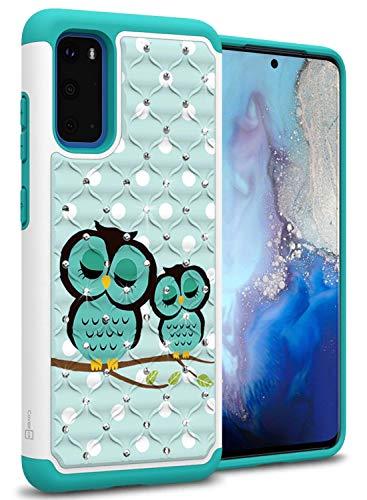CoverON Bling Hybrid Aurora Series for Samsung Galaxy S20 Case - Cute Owl