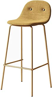 Chair Stool 65cm (27;) Modern bar stools Upholstered backrests and seats Bar stool with gilded metal legacy Modern bar Cou...
